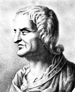 """Der römische Satiriker Juvenal (1./2. Jh.): Difficile est saturam non scribere"""" (""""Es ist schwierig, keine Satire zu schreiben"""")"""
