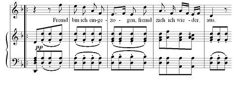 Franz Schuberts «Fremd bin ich eingezogen, fremd zieh´ ich wieder aus»