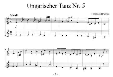 Leseprobe 2: Ungarischer Tanz Nr. 5 (Brahms)