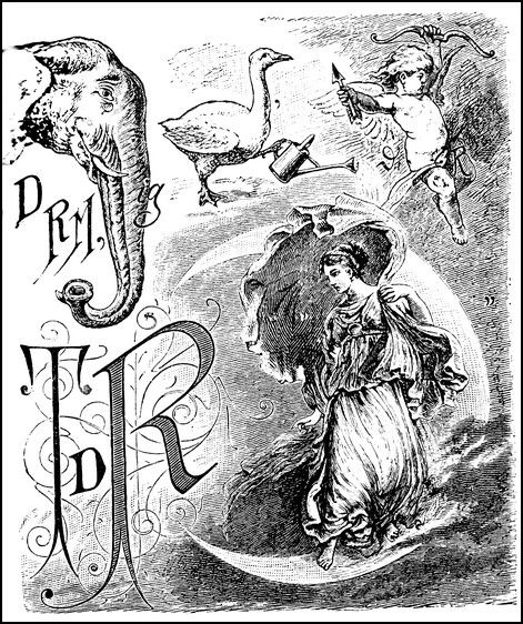 Ein Rebus der anspruchsvolleren Art aus dem 19. Jahrhundert. Gesucht ist einmal mehr ein «Spruch zur Erbauung und Belehrung»...
