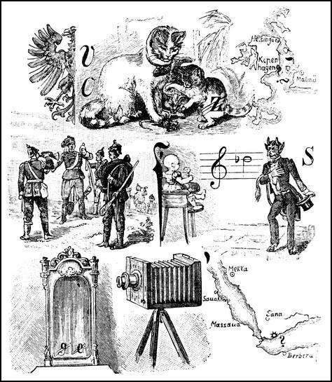 Rebus aus der seinerzeit berühmten Postille «Über Land und Meer»