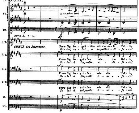 Ritter-Chor im «Sängerkrieg» aus Wagners «Tannhäuser»