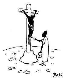 Karikaturist Bosc: Zurechtlegung des Glaubens (Tintenfass Nr. 31 - Diogenes Verlag)