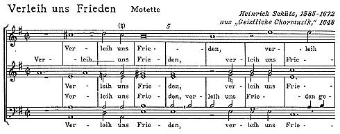 "Heinrich Schütz: ""Verleih uns Frieden"" - Motette"