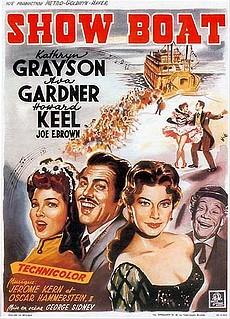 Historisches Aufführungs-Plakat mit Ava Gardner und Howard Keel