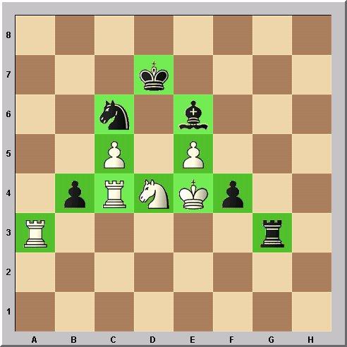 Walter Eigenmann hat die acht Linien des Schachbrettes transferiert in die ersten acht Buchstaben des Alphabets: Das Schach-Alphabet: Heute: Buchstabe A.