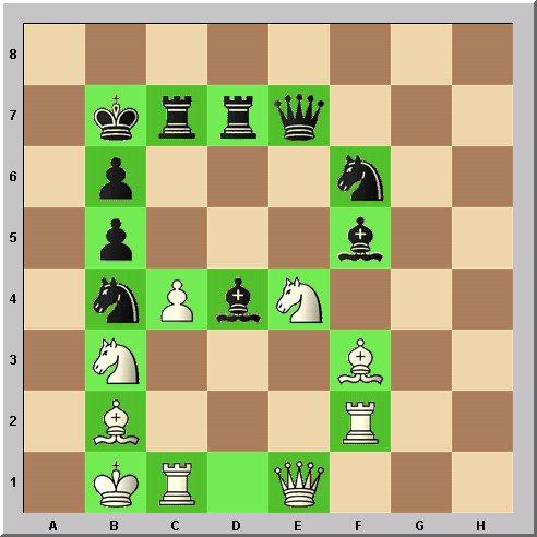 Walter Eigenmann hat die acht Linien des Schachbrettes transferiert in die ersten acht Buchstaben des Alphabets: Das Schach-Alphabet: Heute: Buchstabe B.
