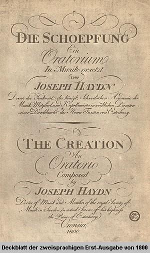 Die Schöpfung - Zweisprachige Erstausgabe 1800