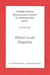 Edgar Neis: Politisch-soziale Zeitgedichte Band 2 der Reihe: Interpretationen motivgleicher Gedichte
