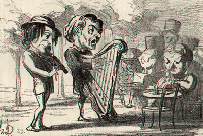 Daumier: La harpe