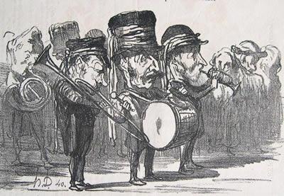 Daumier: Musique de fete champetre