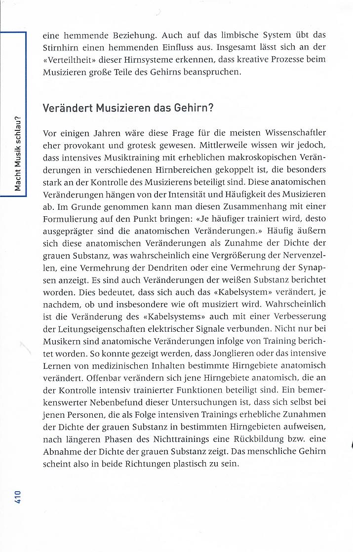 """Leseprobe 2 aus Lutz Jäncke: """"Macht Musik schlau""""? - Neue Erkenntnisse aus den Neurowissenschaften und der kognitiven Psychologie - Huber Verlag"""