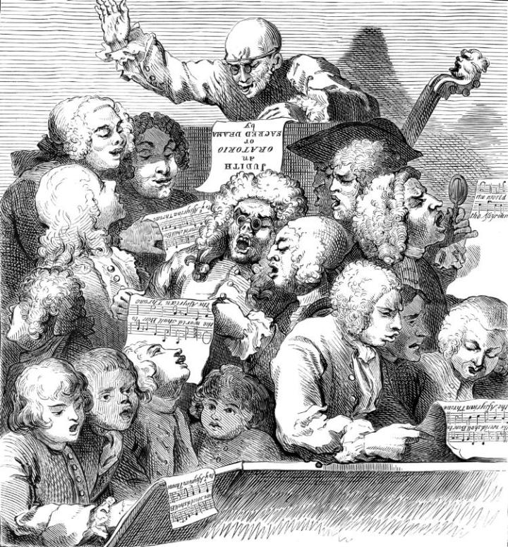 Hogarth_A Chorus of Singers_Lithographie_1732