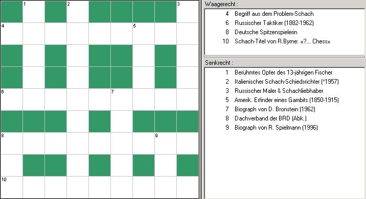 Schach-Kreuzwortraetsel_Juli 2009_Glarean Magazin