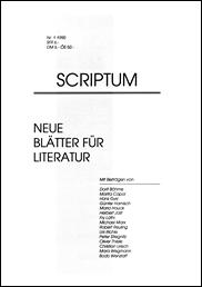 SCRIPTUM Nr. 01 - 1990 - Cover