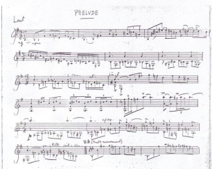 Frank Martin_Quatre pieces_Prelude_Autograph