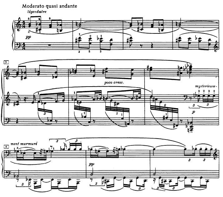 Große emotionale Spannweite auf kleinstem Raum: Beginn von Skrjabins 9. Klaviersonate op.68 («Die Schwarze Messe»)