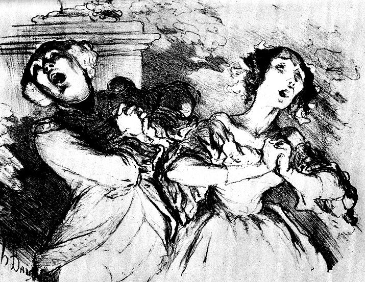 Daumier_Duett-Finale im Provinztheater