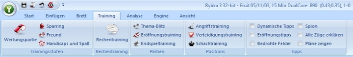 Fritz12-Training-Leiste