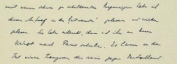 Handschrift Hoffmannsthal
