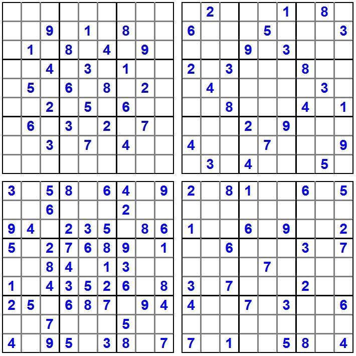 4 Sudoku - Februar 2015 - Aufgaben - Glarean Magazin