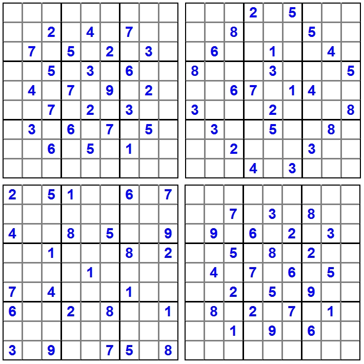 4 Sudoku - April 2015 - Aufgaben - Glarean Magazin