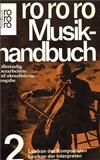 Musikhandbuch 2 - Cover - Heinrich Lindlar