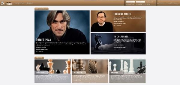 """Startbildschirm der ChessBase-Mediathek von """"Fritz 15"""""""