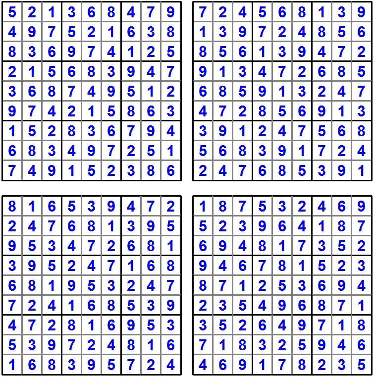 Das Sudoku-Quartett im Juli 2016 - Glarean Magazin